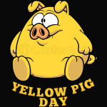 Yellow Pig Day Funny
