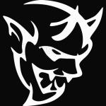 dodge demon face white