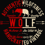 Authentic Wilderness Wolf T-Shirt