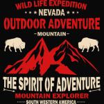 Mountain Explorer Wild life the Spirit of Adventure T-Shirt
