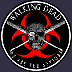 Biohazard Walking Dead  We Are The Saviors Ring Patch outlined