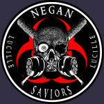 Biohazard Negan Saviors Lucille Bat Ring Patch