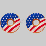 Donut flag of America