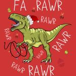T Rex Christmas Dinosaur