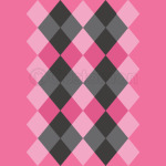 Argyle Design in Pink and Black