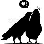 Kiss me Doves - Two Valentine Birds 1c