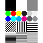 Extreme tone test pattern with colour