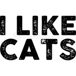 I Like Cats Black