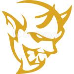 dodge demon face gold