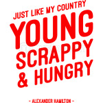 Just like my country young scrappy and hungry red