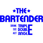 THE BARTENDER -  BLUE