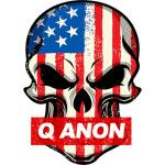 Q anon skull