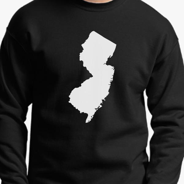 NJ Map Crewneck Sweatshirt, 14351