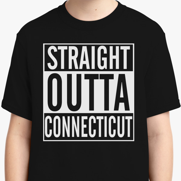 Buy Straight Outta Connecticut Youth T-shirt, 189305