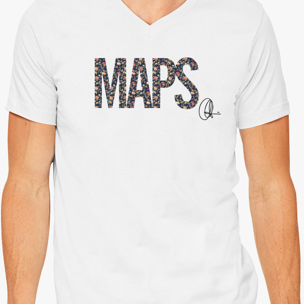 Maps maroon 5 v neck t shirt for Custom t shirts under 5 dollars