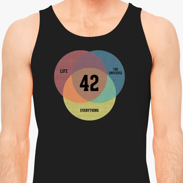 Venn Diagram Life The Universe Mens Tank Top Customon