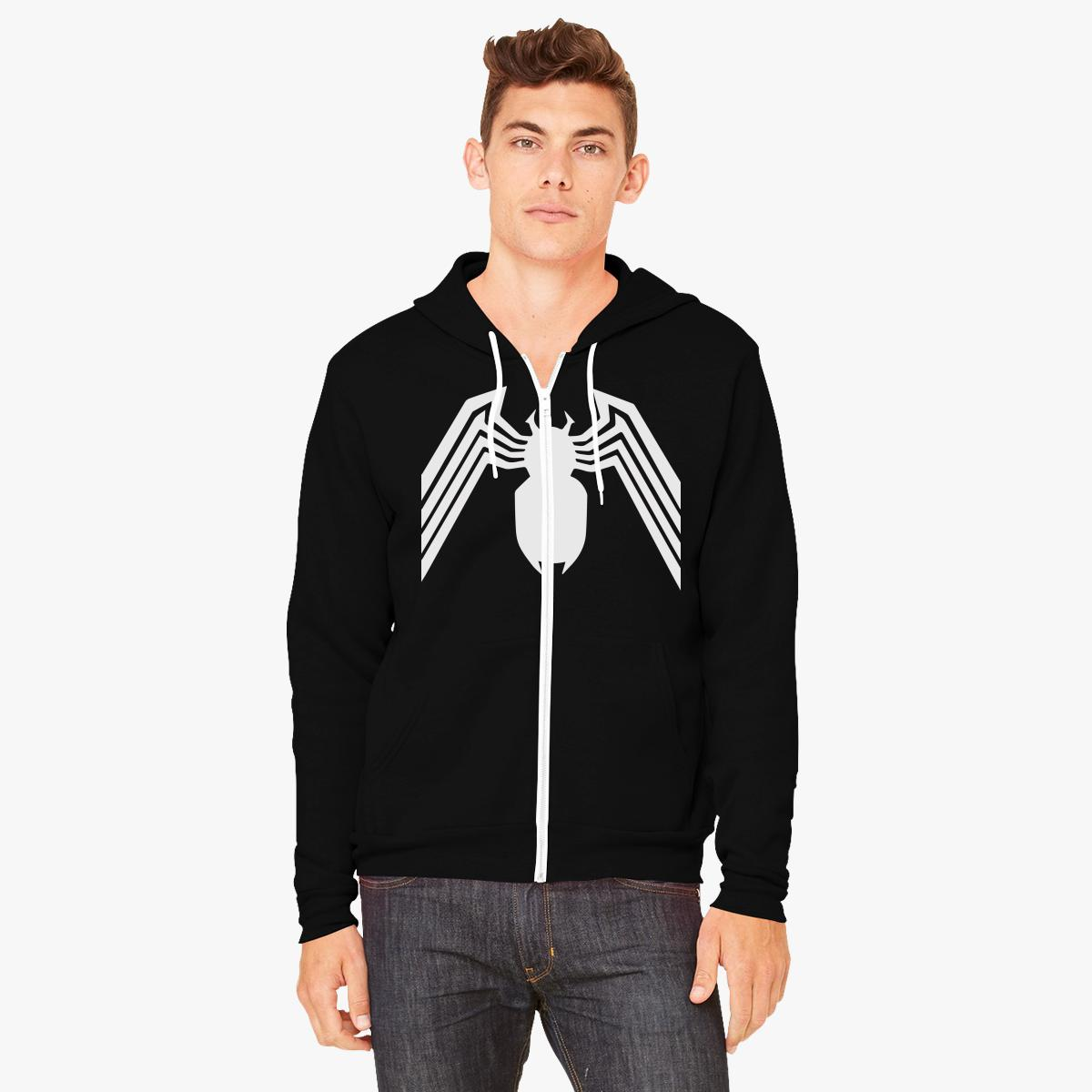 Venom Spider-Man Zip-Up Hoodie