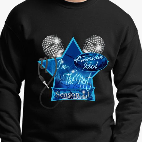 Buy Im Next American Idol Scriptina Dual Mics resized Edited Crewneck Sweatshirt, 366911