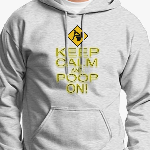 Buy Keep Calm Poop Unisex Hoodie, 38166