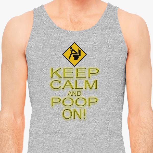 Buy Keep Calm Poop Men's Tank Top, 38251