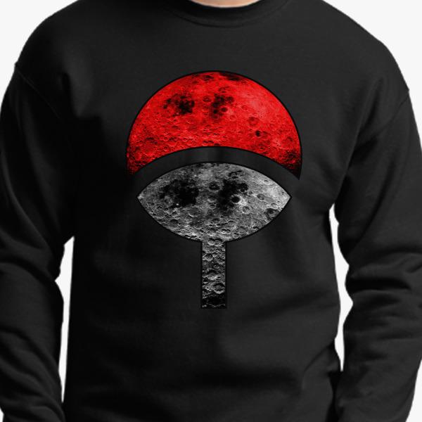 Uchiha Moon Crewneck Sweatshirt Customon