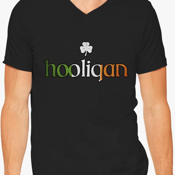 Buy Hooligan Irish V-Neck T-shirt, 497023
