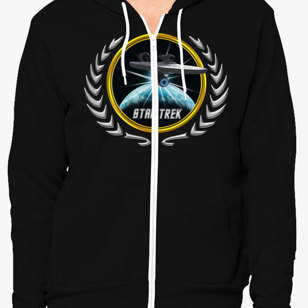 Buy Star trek Federation Planets Enterprise 2009 2 Unisex Zip-Up Hoodie, 526244