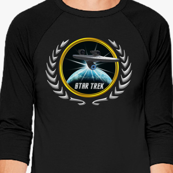 Buy Star trek Federation Planets Enterprise 2009 2 Baseball T-shirt, 526261