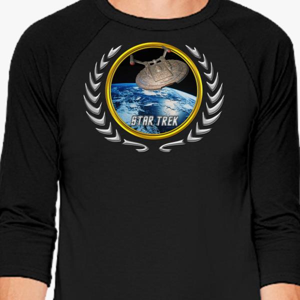 Buy Star trek Federation Planets Enterprise NX01 Baseball T-shirt, 528016