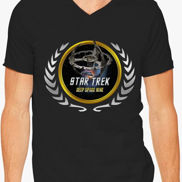Buy Star trek Federation Planets Deep Space Nine V-Neck T-shirt, 536803