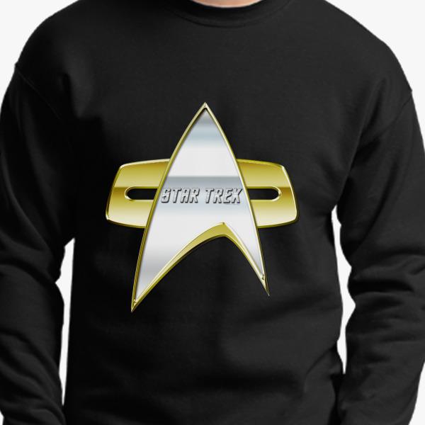 Buy StarTrek NG Com badge Crewneck Sweatshirt, 547871