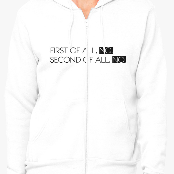 Buy first all, no. second all, Unisex Zip-Up Hoodie, 568366