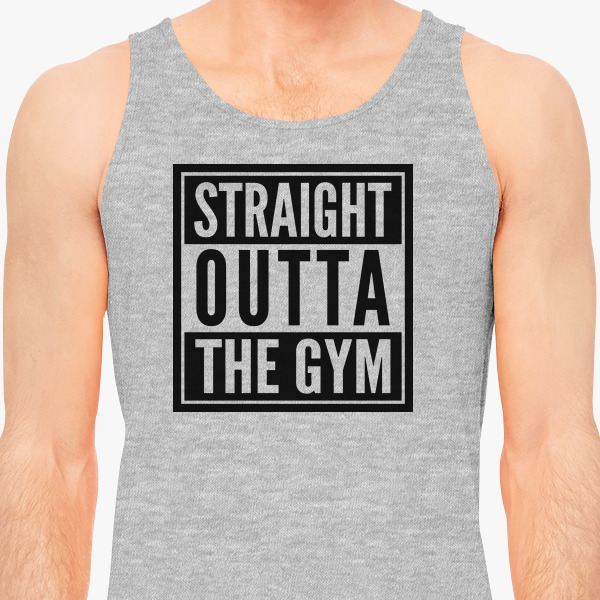 Buy Straight outta gym Men's Tank Top, 639801