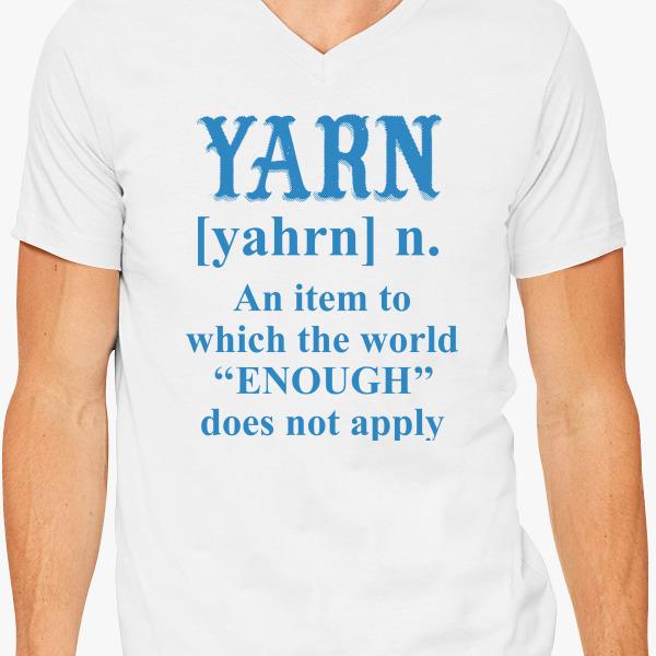 Buy Yarn Never enough V-Neck T-shirt, 704703