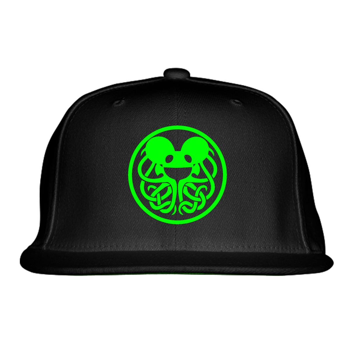 b32677b219f Deadmau snapback hat embroidered jpg 1200x1200 Deadmau5 green hat