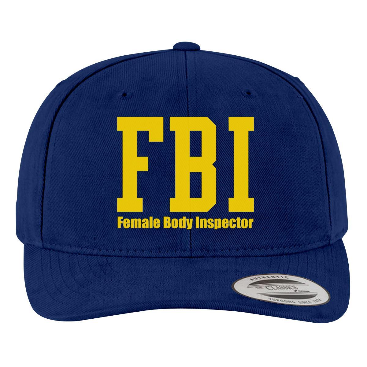 Funny FBI Brushed Cotton Twill Hat  68112fbd409
