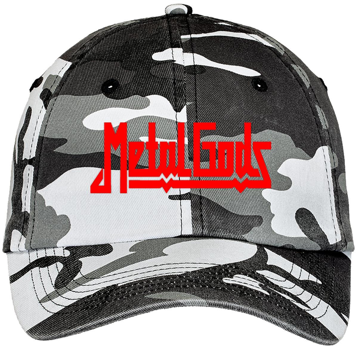 Judas Priest Metal Gods Camouflage Cotton Twill Cap (Embroidered ... f39e9023e70f