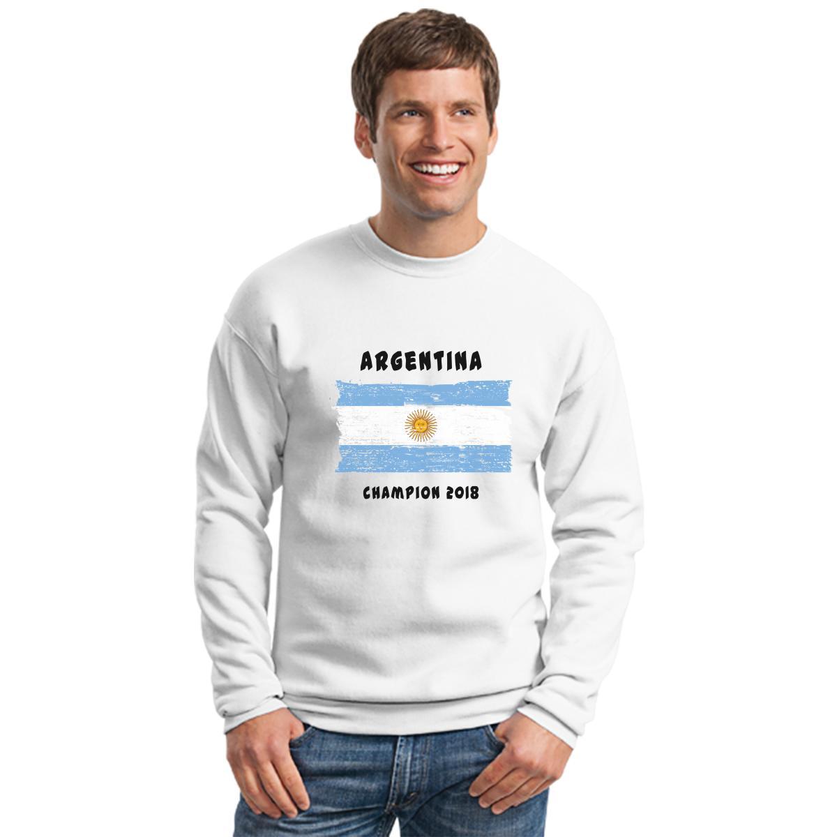 Argentina Fifa World Cup 2018 Crewneck Sweatshirt Fashion Big Size T Shirt 2xl