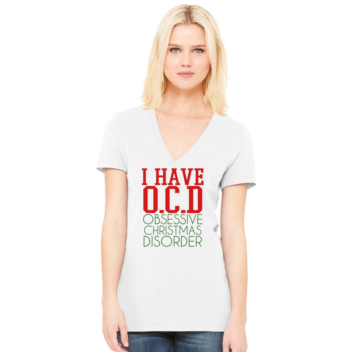 Ocd Obsessive Christmas Disorder Women\'s V-Neck T-shirt | Customon.com